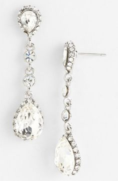 Nina 'Betine' Drop Earrings | Nordstrom. Rhodium plate and Czech crystal. $110 CAD