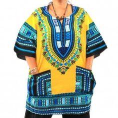 dashiki tamaño XL camisa de estampado