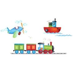 Platin Art Wall Decals Deco Sticker, Boats, Planes and Trains at Sears.com