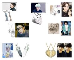 """""""BTS Couple Necklaces"""" by jordanvarney ❤ liked on Polyvore featuring WithChic"""