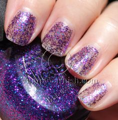 Another Polish I Bought Today Gone Wishin' I think these kinds of glitters always look best over a deep purple, blue or black polish.