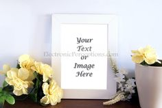 White Photo Frame Decor Styled Stock Photo for Advertising Your Shop, Blog and Products. Digital Styled Background Photography by PerceptionStock on Etsy