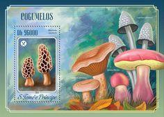 Post stamp São Tomé and Príncipe ST 14514 bMushrooms (Morchella esculenta)