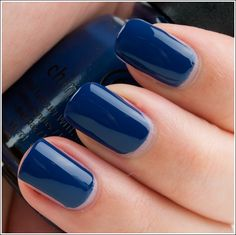 I finally found it = TARDIS Blues nail polish!! *fangirl squee* China Glaze First Mate