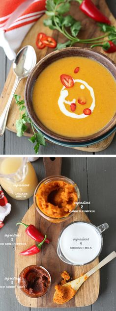 5 Ingredient Thai Pumpkin Soup, sounds yummy!  #fall #comfort