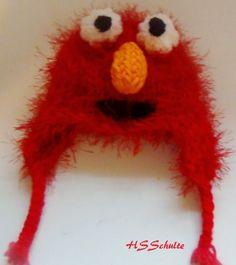 Elmo Earflap Hat – Loom Knit