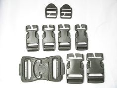"""6 Heavy Duty Military Replacement Backpack Pack Quick Connect Snap Buckles 1/"""""""