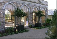 Lifestyles inspired by California beaches and Kentucky horse farms. Interior Exterior, Exterior Design, Orangery Conservatory, Kentucky Horse Farms, Build A Greenhouse, Longwood Gardens, Glass House, Architecture, Outdoor Living