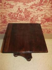 Ethan Allen Antiqued Pine Trestle Cocktail Table Coffee