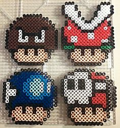 Enemy Shrooms perler beads by PerlerPixie on deviantART