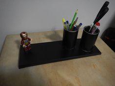 Diy - organizador de mesa do escritório / home officeHomem de ferro