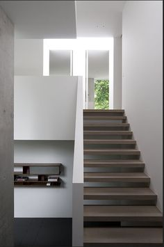 Stair with open treads