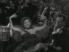 New Year's Eve scene in Sunset Boulevard. Gloria Swanson and William Holden.