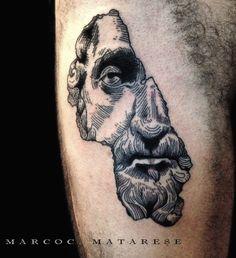 Sculpture, men, art. | Tattoo - etching, engraving, penandink. | Tattooist…