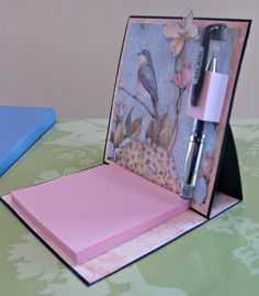Post It Holder with Pen - Scrapbook.com
