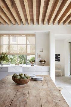 The Best Interior Design Trends for 2020   lark & linen #interiors #kitchens #designtrends Farmhouse Style Kitchen, Rustic Kitchen, Kitchen Ideas, Kitchen Modern, Kitchen Decor, Kitchen Layout, Kitchen Interior, Cozy Kitchen, Decorating Kitchen