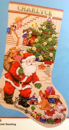 Bucilla The BEST OF CHRISTMAS Stocking  - Counted Cross Stitch Pattern Chart Kit. $19.75, via Etsy.