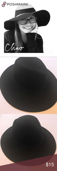 NWOT-Black floppy western hat 100% wool New without tags! Western inspired floppy 100% will hat. I love to wear hats and dress them up with a dress, heels, oversized cardigan and a hat like this. Or, with jeans and ankle booties! Color is black with a black faux leather thin band. Fits most heads. From front to back the hat opening measures 8 inches. From side to side the hat opening measures 7 inches. Can be worn like a western hat, or flat on top. target Accessories Hats