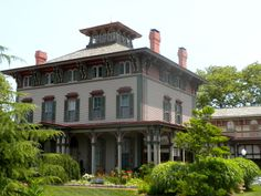 """The George Allen House in Cape May New Jersey. An elegant Italianate villa, called """"one of the State's most impressive 19th-century seaside structures."""""""