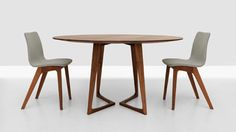 twist round table in solid wood  http://spencerinteriors.ca/Zeitraum.html