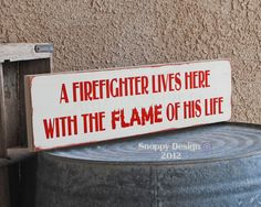 Firefighter and flame of his life  Firefighter  by snappydesign, $25.00