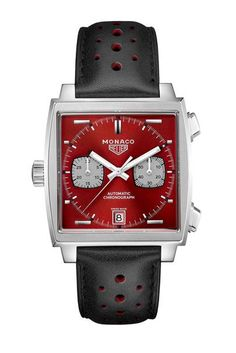 TAG Heuer has unveiled the second in its series of five anniversary Monaco chronographs at Le Mans Steve Mcqueen, Best Watches For Men, Cool Watches, Men's Watches, Logo Monaco, Le Mans, Monaco Tag Heuer, Tag Heuer Professional, Elegant Watches