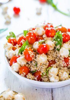 Tomato, Mozzarella and Basil Quinoa Salad