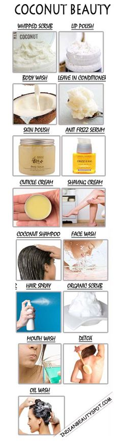 15 best DIY homemade natural coconut beauty products DIY Beauty Tips, DIY Beauty Products Make Beauty, Health And Beauty Tips, All Things Beauty, Beauty Care, Beauty Skin, Beauty Secrets, Beauty Hacks, Piel Natural, Coconut Oil Uses