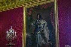 Pintura del rey Luis XIV en la cámara del rey – Aposentos privados del Palacio de Versalles