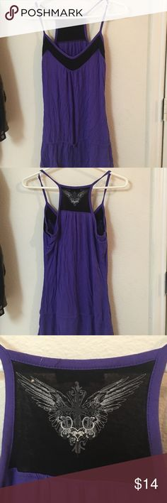 Tank top Purple guess tank top. Has a very time hole in top of back of neck, see photo. GUESS Tops Tank Tops