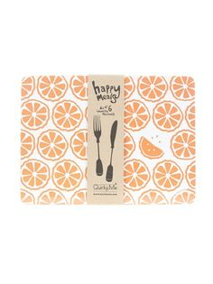 Happy citrus placemats from Quirky Me at our online shop #FLYshop