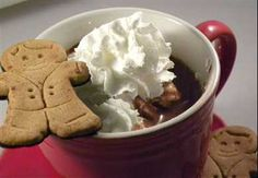 Gingerbread hot chocolate is like Christmas in a cup! Yay for seasonal International Delight flavors!