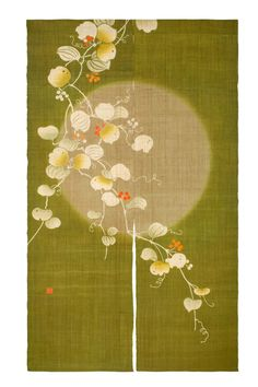 さるとりいばら Sarutoriibara. Designed by the renown 'Rakushian' of Kyoto, it is hand made and dyed by skilled artisans using age-old techniques. Noren (暖簾 ) are traditional Japanese fabric dividers, hung between rooms, on walls, in doorways, or in windows. | eBay!