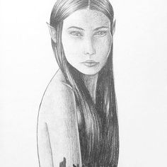 Eleven fairy sketch, graphite pencil on paper. Elven Woman, Fairy Sketch, Realistic Pencil Drawings, Woman Sketch, Halloween 2020, Wren, Line Drawing, Graphite