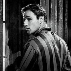 "Marlon Brando in the outtakes from ""A Streetcar Named  Desire""."