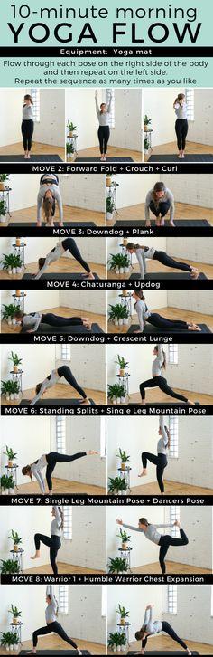 Yoga Flow - Fitness - Gym - Worckout #YogaRoutinesandPoses
