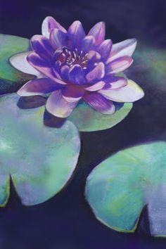 Zen Purity Lotus Lilypad Pond Nature Floral by BrazenDesignStudio.