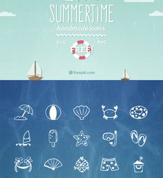 Free Summertime Icon Set Icons Free Graphic Design Icon PNG Resource SVG Vector