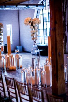 wedding ceremony, wood and mint, candle aisle decor, floral arrangement