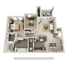 Rosemont At Olmos Park Apartments Grayson Apartment Layout 3 Bedroom Floor Plans