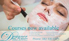 Amazing Courses now available at Designer Nail and Beauty!  We offer some amazing courses such as the following:  •Indian Head Massage.  •Hi-frequency/Galvanic machines for facials.  •Holistic Massage.  •Pedicure/Manicure.  •5 day waxing course which includes kit.  We have already had the first wax course and it was amazing! The next course is the facial course which commences on the 8th May 2018.  Please advise which of the courses you may be interested in so we can ensure that your…