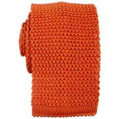 PLAIN ORANGE - SILK KNITTED TIE http://www.kjbeckett.com/brand/kj-beckett/kj-beckett-knitted-silk-tie-orange.html