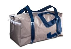 Bootsmann-Segeltuch-Sporttasche in grau dunkelblau