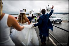 There were a lot of well wishers as Vicky and Eddie boarded the Chain Ferry on the way to Shell Bay - Restaurant Wedding, Documentaries, Wedding Reception, Shell, Wedding Photography, London, Chain, Marriage Reception, Big Ben London