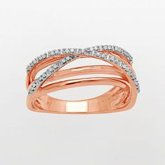 Pink gold and diamonds