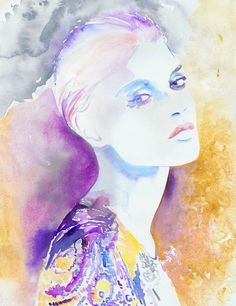 This artist reveals emotion incredibly in . Watercolor Fashion Illustrations by Cate Parr - My Modern Metropolis Watercolor Face, Watercolor Fashion, Watercolor Illustration, Watercolour Painting, Female Art, Art Drawings, Art Photography, Creations, Artwork