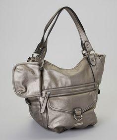 Take a look at this Gray Metallic Amber Handbag by Franco Sarto on today! Nice Handbags, Best Handbags, That Look, Take That, Franco Sarto, Amber, Totes, Metallic, Gray