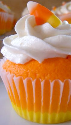 Candy Corn Cupcakes Recipe