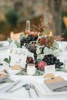 Fruit favors: http://www.stylemepretty.com/2014/11/27/20-gorgeous-tables-to-gather-around/