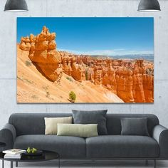 """DesignArt 'Beautiful Bryce Canyon' Photographic Print on Wrapped Canvas Size: 40"""" H x 60"""" W x 1.5"""" D"""